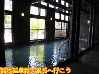 ひらゆの森男湯大浴場内風呂