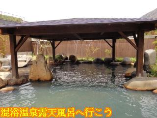 穂高荘山がの湯、万年亀の湯 露天風呂