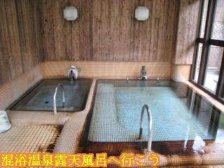 河鹿荘展望風呂は混浴の内風呂