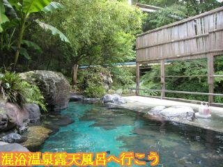 河鹿荘混浴渓流露天風呂