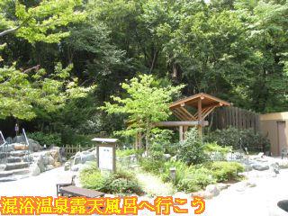 可児市の山里の自然に囲まれた天然温泉三峰