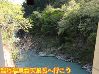 天龍の湯入り口から見える天龍峡の渓谷