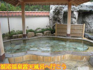 しぶきの湯遊湯館洋風露天風呂あずま造りの岩風呂