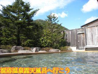 露天風呂から見える山々の景色
