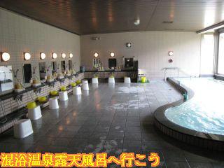 大浴場洗い場と内湯