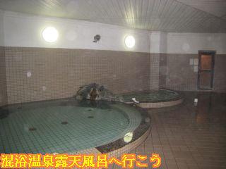 浴場右からサウナ、水風呂、全身浴