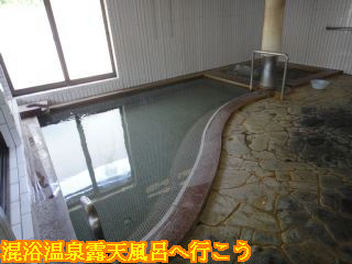 湯の平温泉、大浴場内風呂